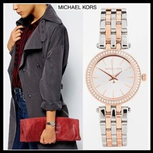 Michael Kors Petite Darci Silver Dial Two-tone Lad
